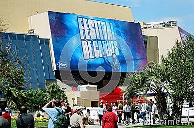Palais des Festivals 2004 Editorial Stock Photo
