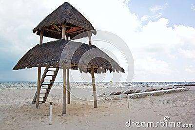 海滩坎昆palapa