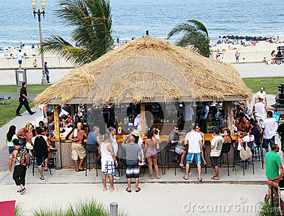 Palapa Bar Editorial Stock Image