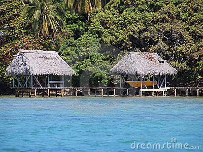 Palapa with boathouse
