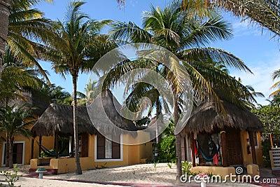 Palapas in Playa del Carmen - Mexico