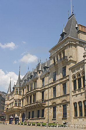 Palast des großartigen Herzogs in Luxemburg, Seitenansicht