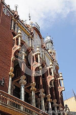 Free Palau De La Musica Catalana Barcelona Stock Photography - 9426912