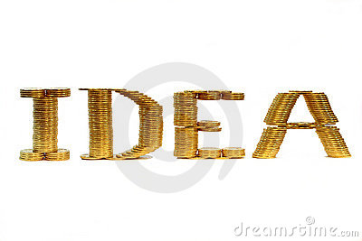 Palavra da idéia de uma moeda dobrada
