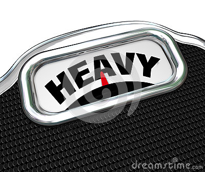 Palavra pesada no peso ou na massa de medição da escala