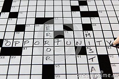 Palavras cruzadas da oportunidade