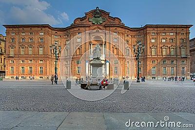 Palazzo Carignano, Turin, Italy Editorial Stock Image