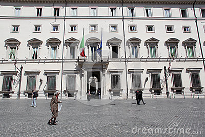 Palazzo Chigi in Rome Editorial Photo