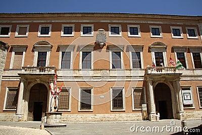 Palazzo Chigi Zondadari in San Quirico dOrcia Editorial Image
