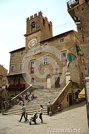 Palazzo Comunale in Cortona (Italy) Editorial Photography
