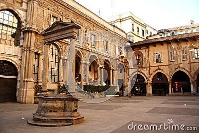Palazzo della Ragione in Milan, Italy Editorial Photo