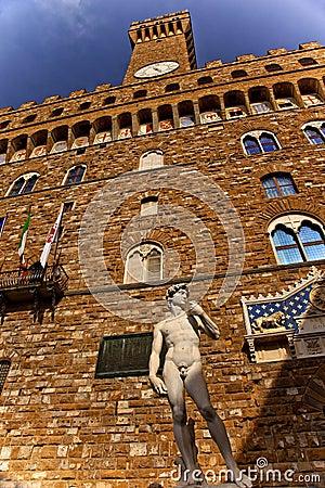Free Palazzo Della Signoria David Statue Florence Royalty Free Stock Images - 16325409