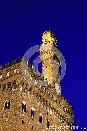 Free Palazzo Della Signoria In The Evening , Florence Royalty Free Stock Photo - 24578565
