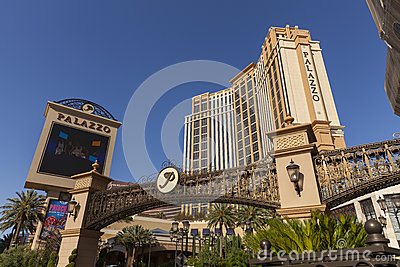 The Palazzo Hotel entrance in Las Vegas, NV on June 05, 2013 Editorial Photography