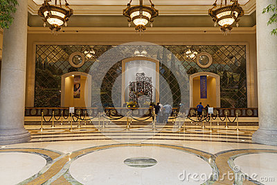 Palazzo Hotel Guest Registration area in Las Vegas, NV on August Editorial Image