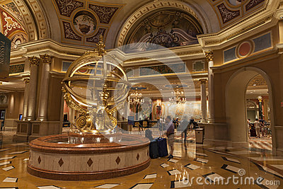 Palazzo Hotel Interior in Las Vegas, NV on August 02, 2013 Editorial Stock Photo