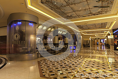 Palazzo Hotel Interior in Las Vegas, NV on August 02, 2013 Editorial Stock Image