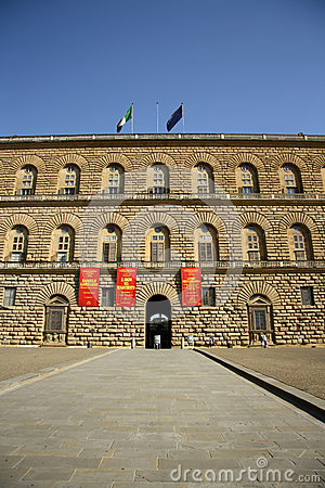 Palazzo Pitti in Florence (Tuscany, Italy) Editorial Stock Photo