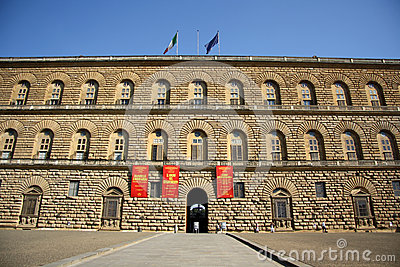 Palazzo Pitti in Florence (Tuscany, Italy) Editorial Photo