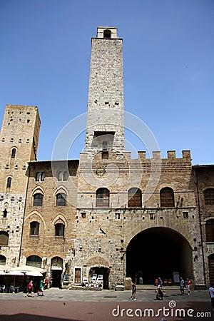 Palazzo Podesta in San Gimignano (Italy) Editorial Stock Photo