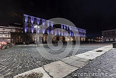 Palazzo reale, piazza plebiscito , naples Editorial Photography