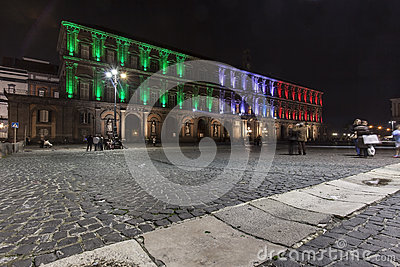 Palazzo reale, piazza plebiscito , naples Editorial Stock Photo