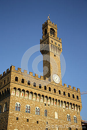 Palazzo Vecchio - Old Palace - in Florence (Italy)