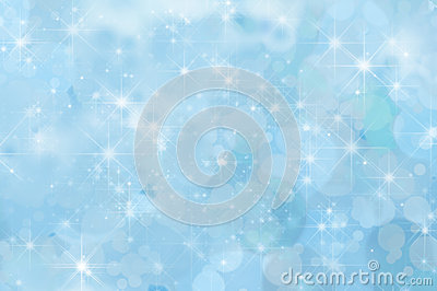 Pale Blue Abstract Star Background