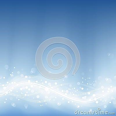 Pale blue defocused lights, light dots