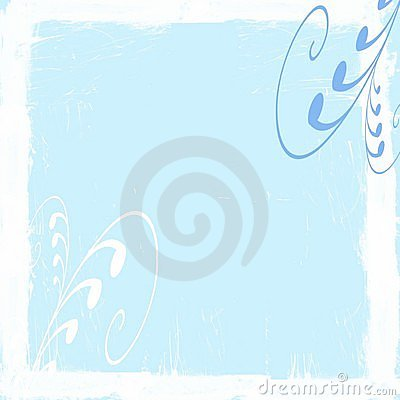 Pale blue swirls frame