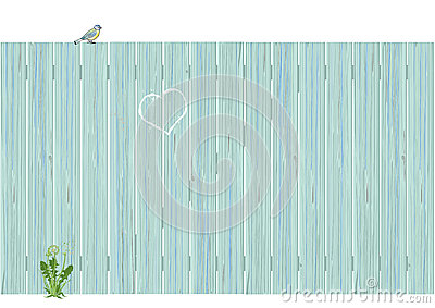 Pale blue wooden fence