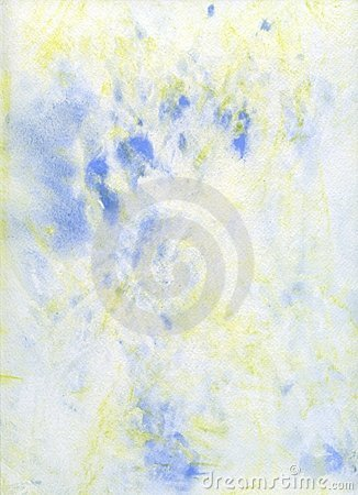 Pale Blue and Yello Abstract Watercolor Background