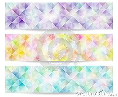 Pale color banner