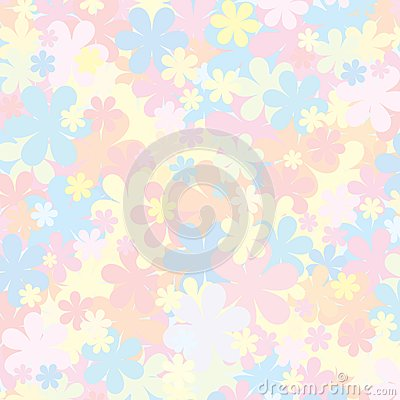 Pale Floral Pattern. Pastel Backdropfor for Design