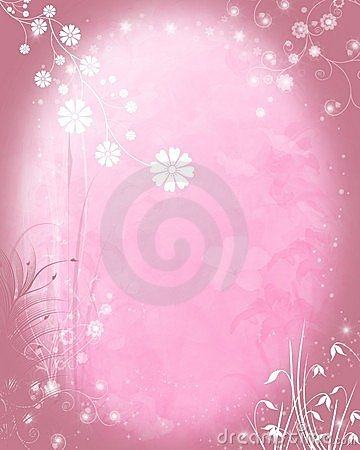 Pale pink floral background