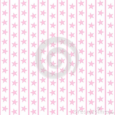 Pale Pink Stars & Stripes