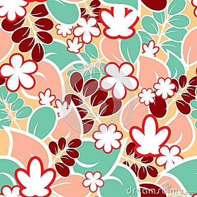 Pale seamless pattern