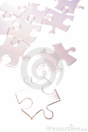 Pale shiny puzzle pieces