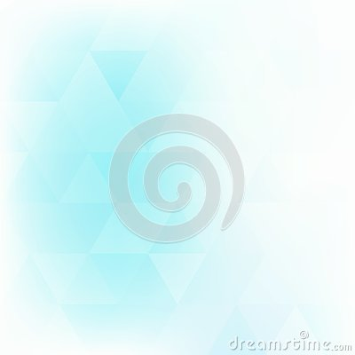 Free Pale Turquoise Background Textured By Triangles. Vector Pattern Royalty Free Stock Photo - 128879385