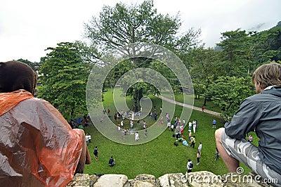 Palenque Maya ceremony Editorial Stock Image