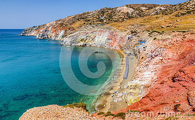 Paleochori beach, Milos island, Cyclades, Greece