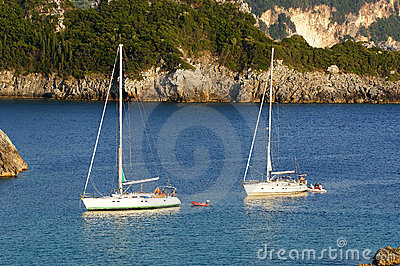 Paleokastritsa, console Corfu, mar Ionian, Greece