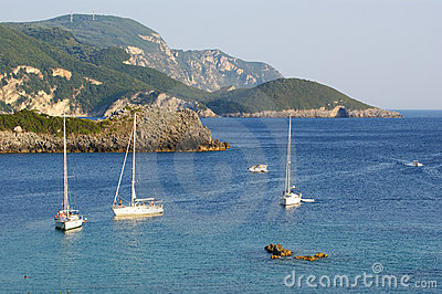 Paleokastritsa, island Corfu, Ionian sea, Greece