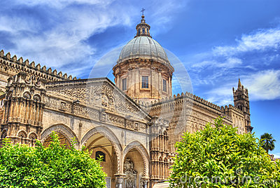 Palermo Cathedral in hdr