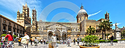 Palermo Cathedral photomerge Editorial Photography