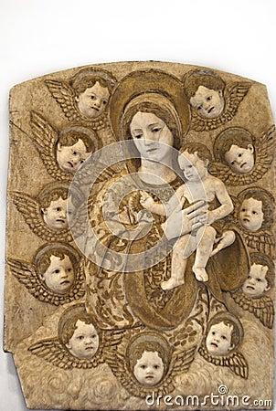 Detalle de la escultura Imagen de archivo editorial
