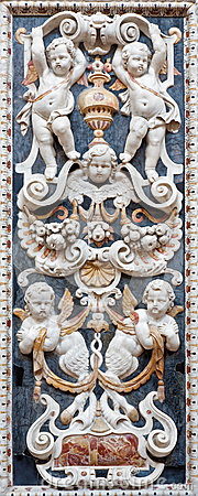 Free Palermo - Detail From Mosaic Decoration In Church La Chiesa Del Gesu Stock Image - 31814431