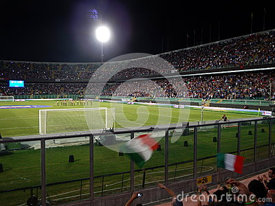 Palermo, Italy - September 06, 2013 - Italy vs Bulgaria - FIFA 2014 World Cup Qualifier Editorial Stock Image