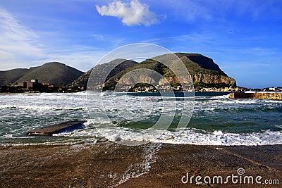 Palermo, Mondello seascape. Italy
