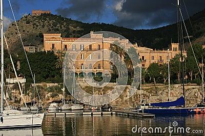 Palermo s small port °° Villa Igiea Liberty building & Utveggio Castel